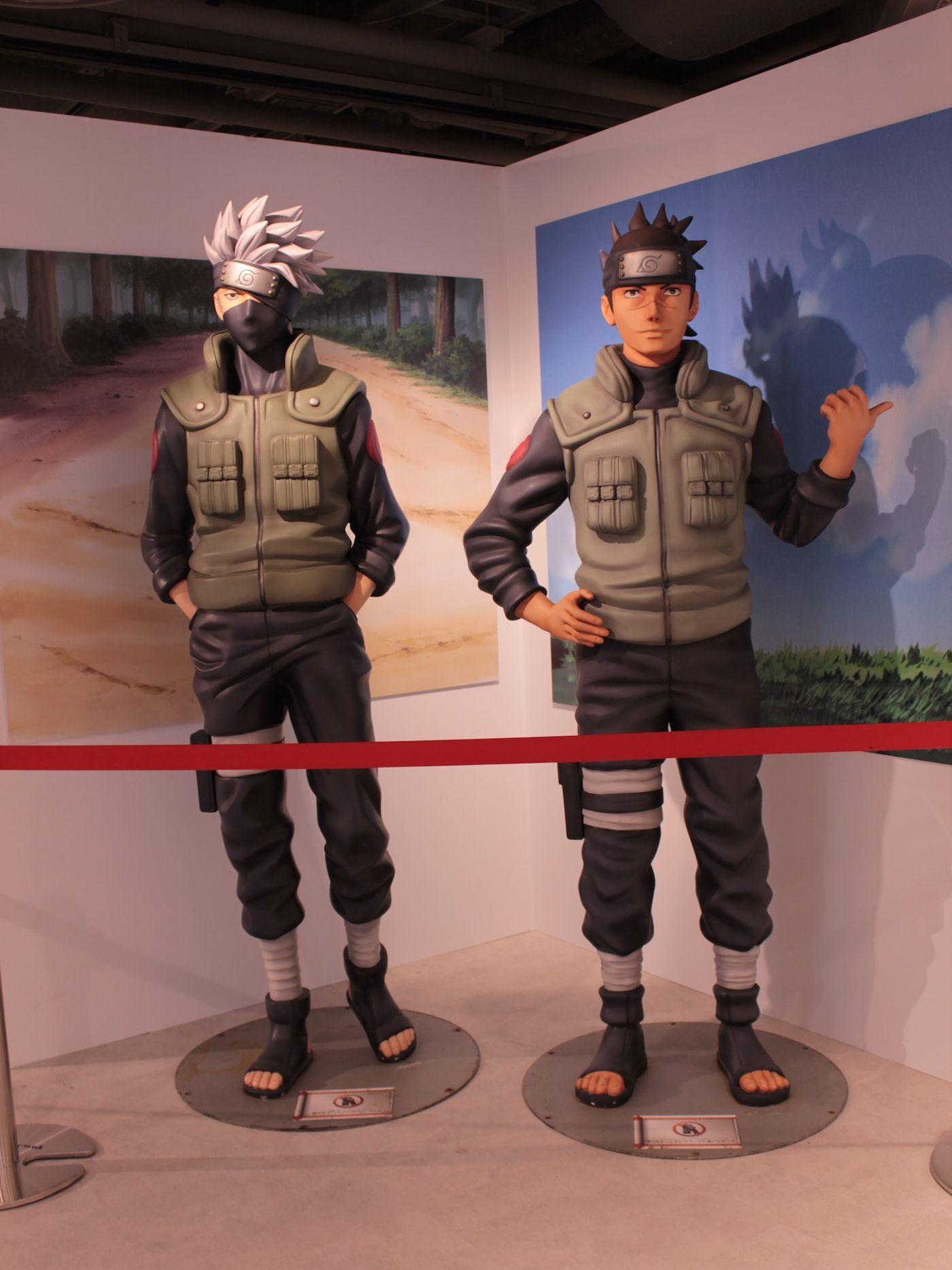 Kakashi and Iruka in Naruto and Boruto Museum.