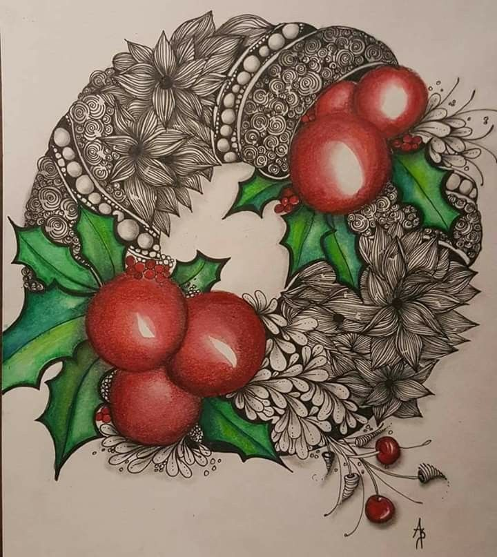 Pin by Margaret Ferguson on ZENTANGLE! in 2020 | Christmas ...