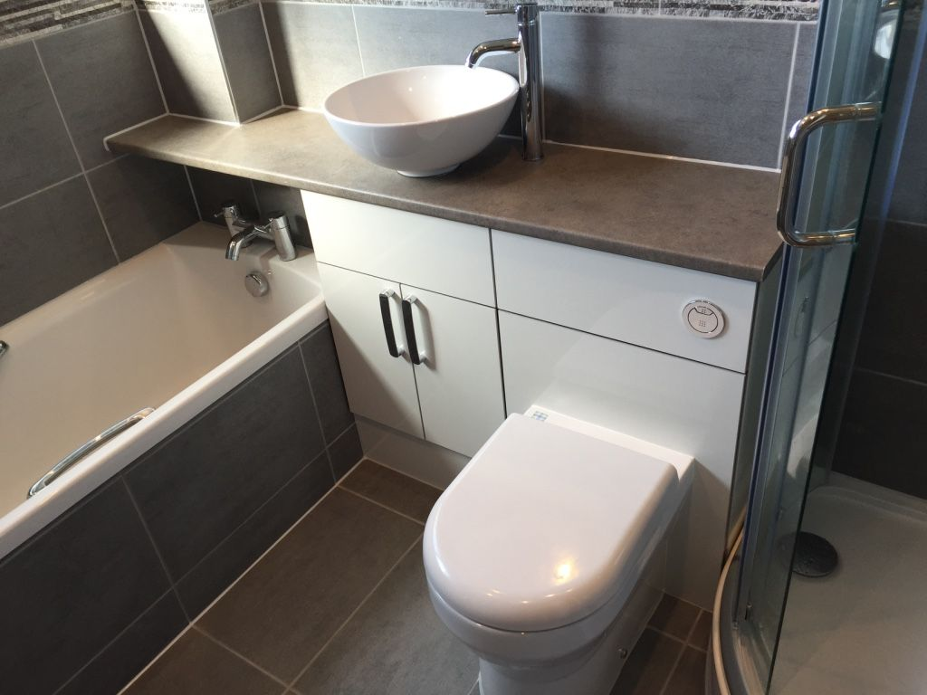 tiled in bath panel | Combined Toilet & Basin Units by UK Bathroom ...
