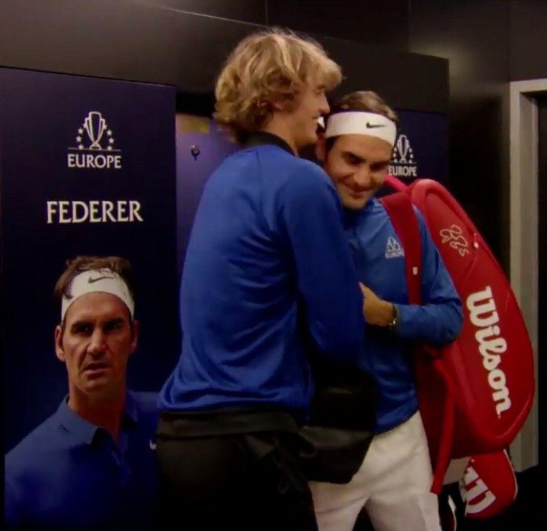 Respect Roger Federer And Alexander Sascha Zverev Roger Federer Tennis Players The Prince Of Tennis