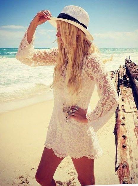 White lace mini dress with cap