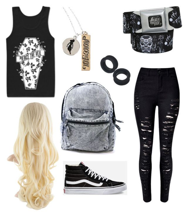 """""""Pierce the Veil"""" by meckensylou on Polyvore featuring Vans and WithChic"""