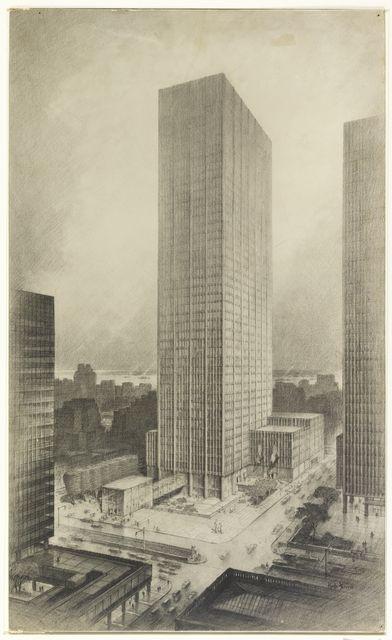 """Print, """"Skyscraper"""", mid-20th century"""