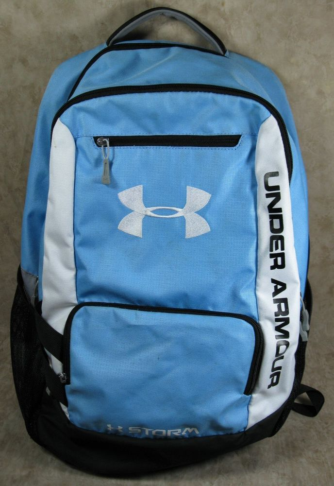 b83fa52976 Under Armour Storm Light Blue White Black Backpack #UnderArmour #Backpack