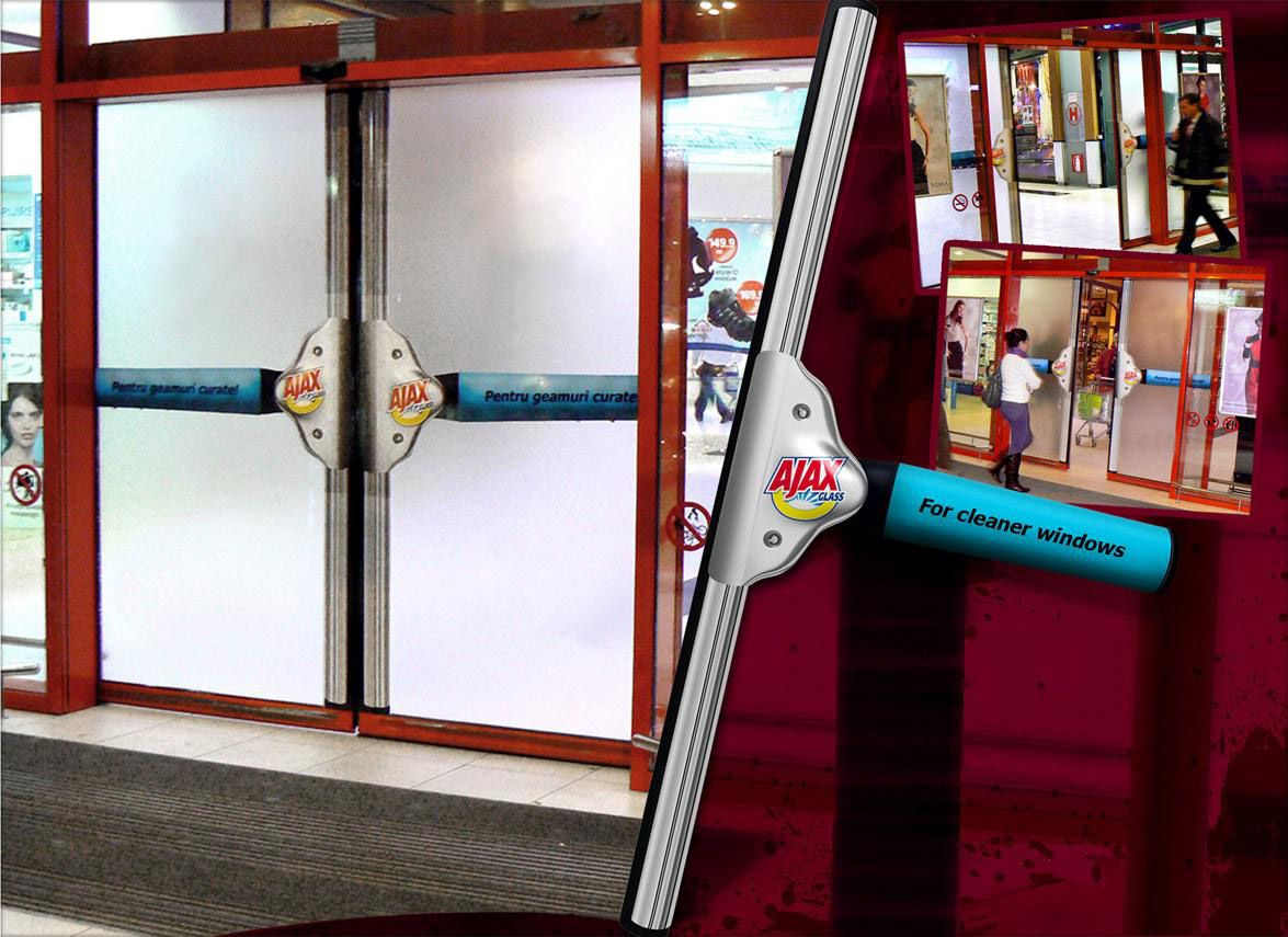 Ad 16: Ajax Glass Cleaner Ad Automatic Door Ad