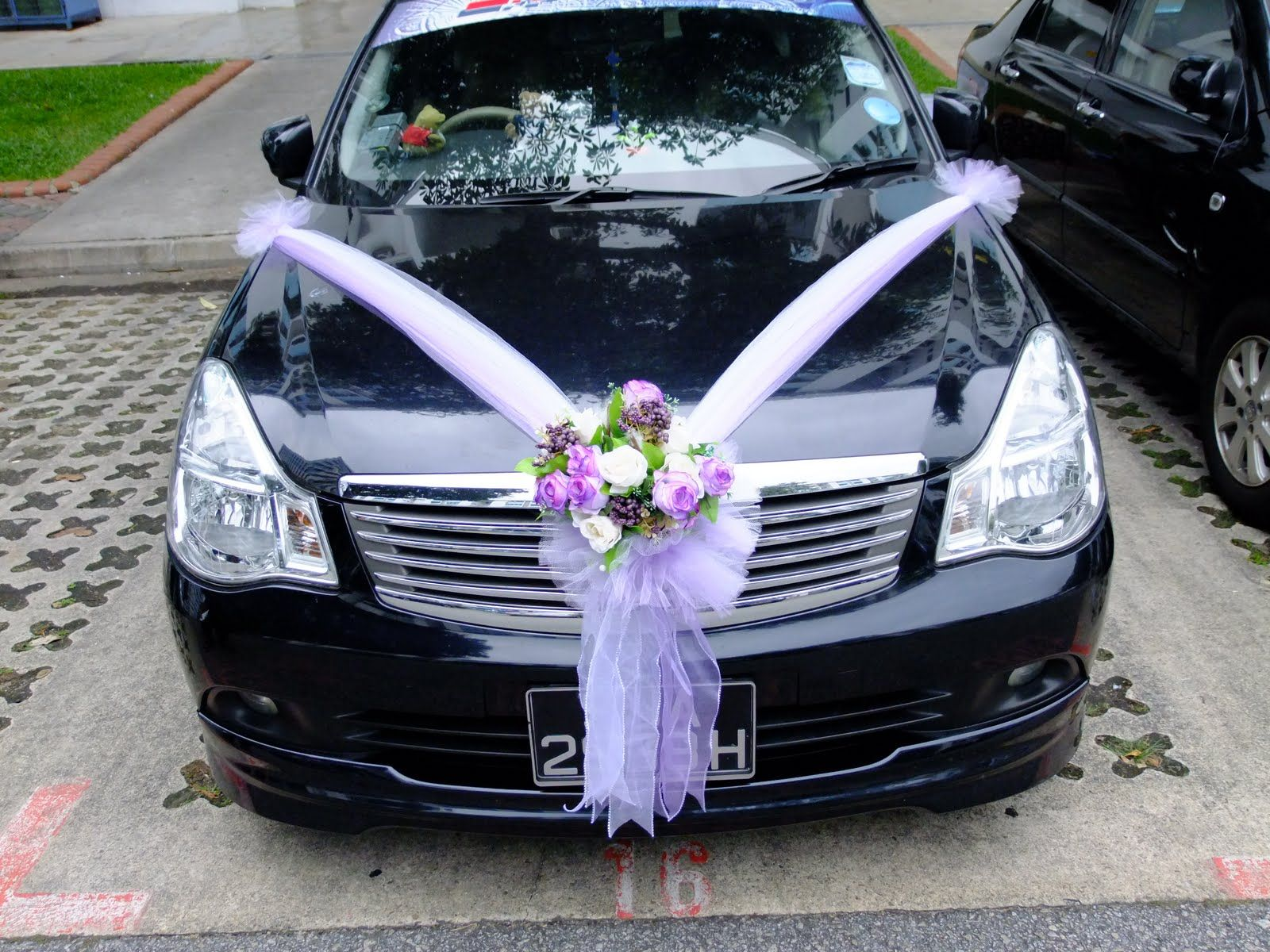 Wedding vehicle decorations  Wedding Car Decoration for Rental  Weddings  Pinterest  Wedding