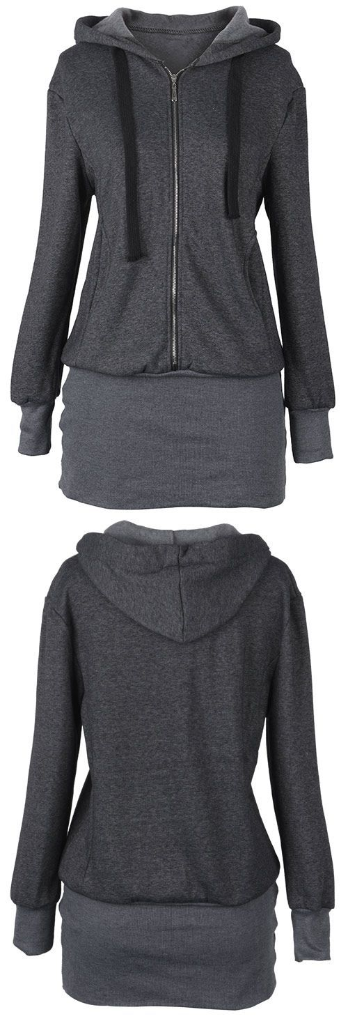 15% Off for Pre-order. Free Shipping~ I can not forget its long slim design and dark grey color. Pair it with leggings and high-heeled shoes! Check more similar ones at Cupshe.com