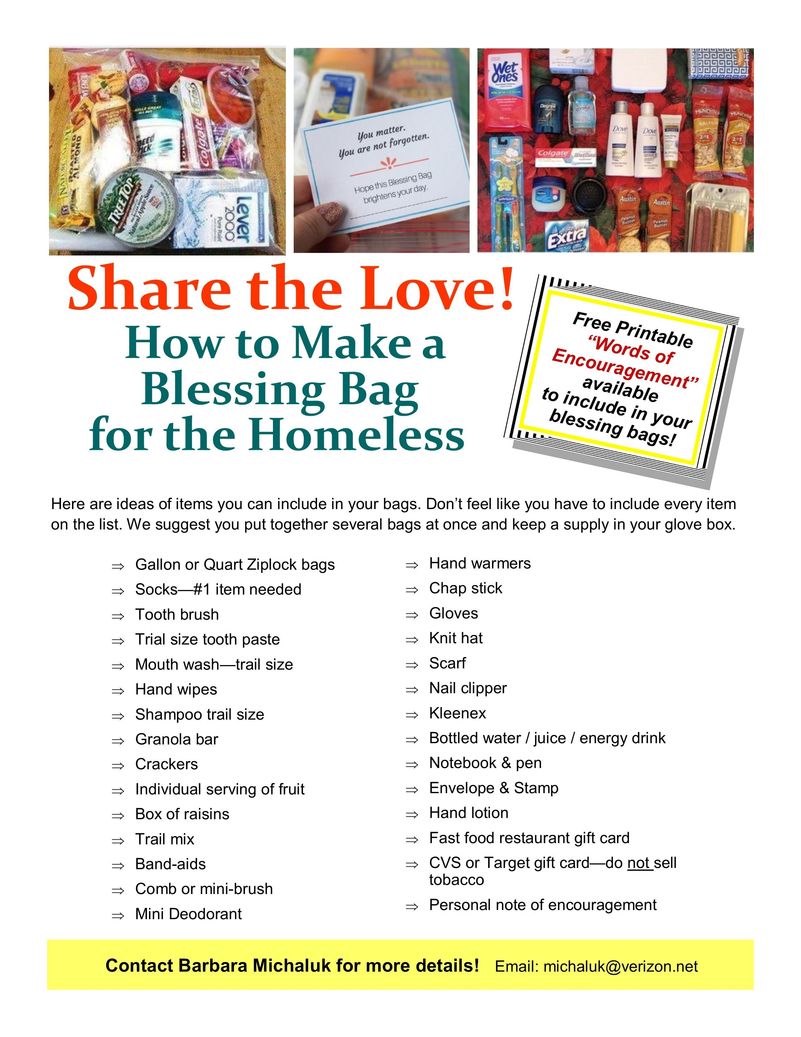 Share The Love Ideas For Making Blessing Bags For Blessing Bags Blessed Simple Scrapbook