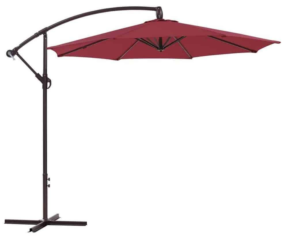 Ulax Furniture 10 Ft Offset Cantilever Hanging Patio Umbrella - Top 10 Best Offset Patio Umbrellas Offset Patio Umbrella, Patio