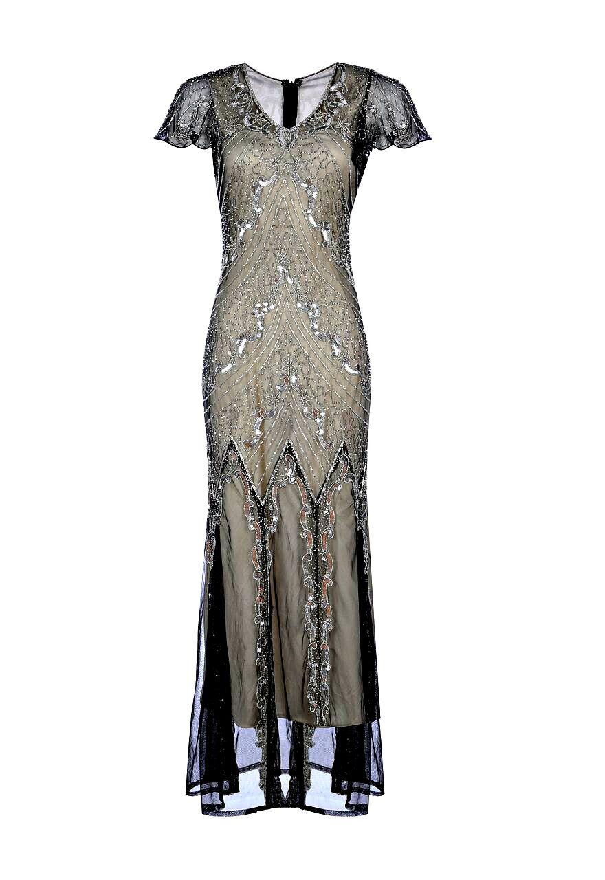 Miranda Embellished Flapper Dress, 1920s Great Gatsby Inspired, Art ...
