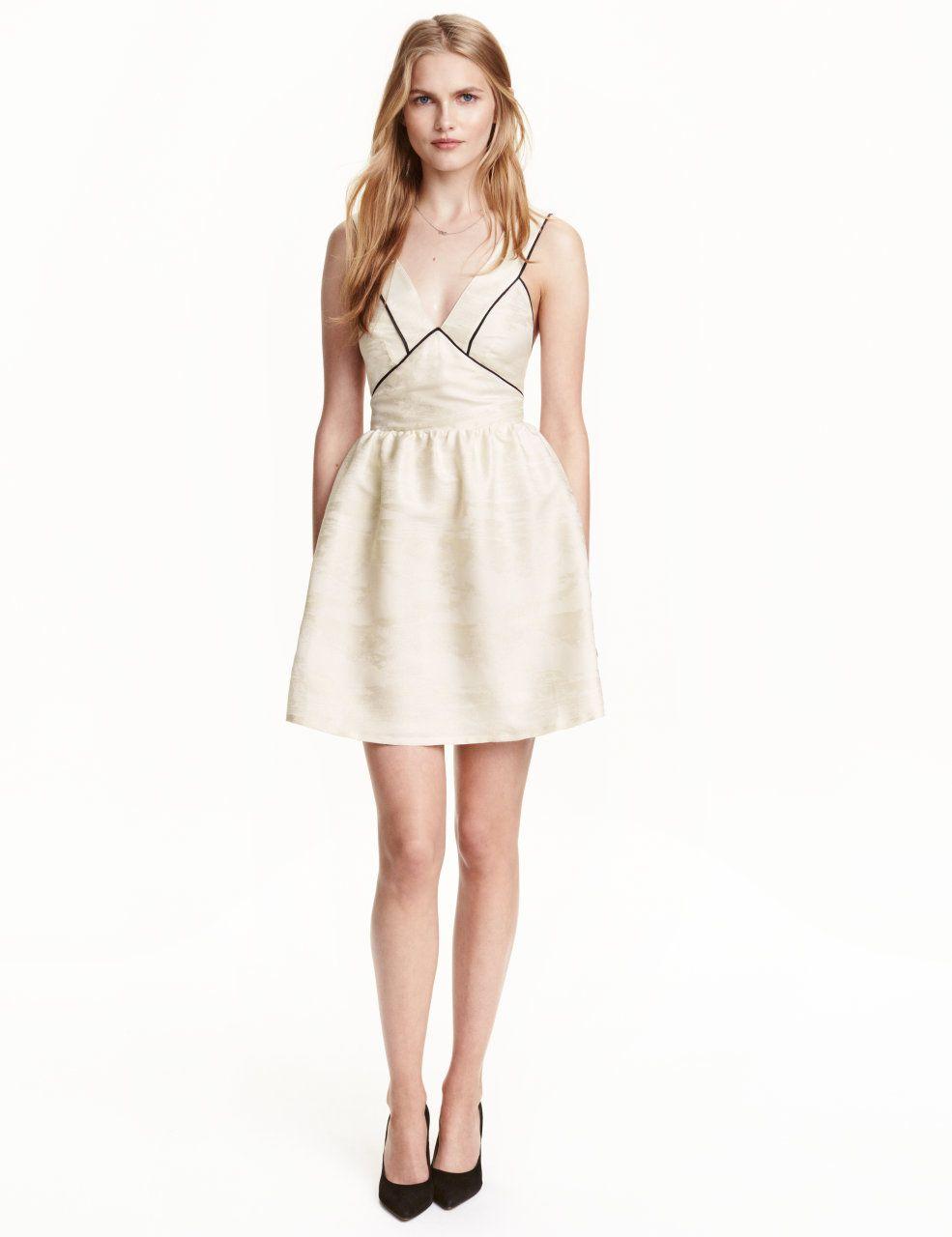 Jacquardweave dress natural white ladies hum us my style