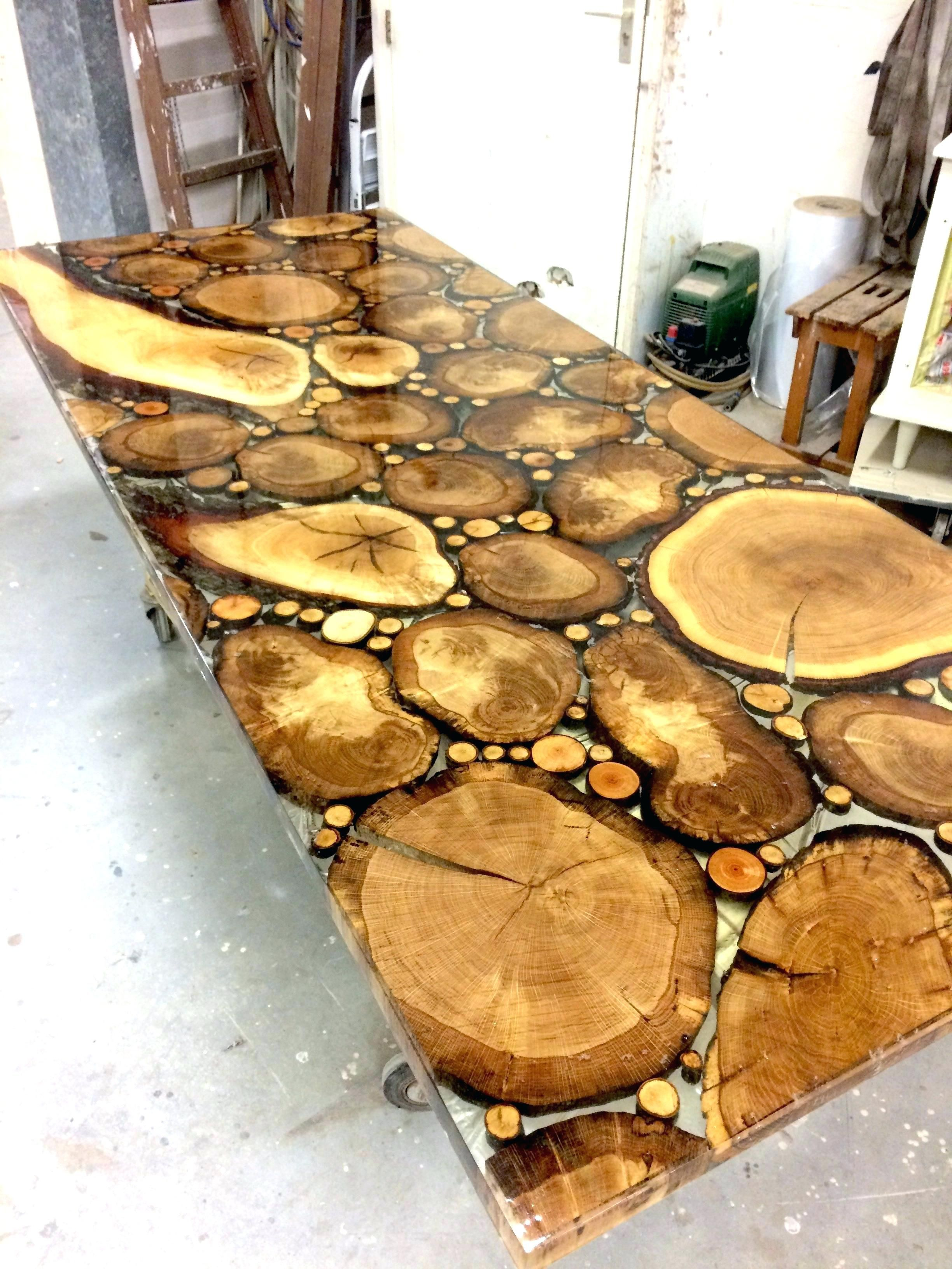Resin Table Tops Res Coated Wood Custom