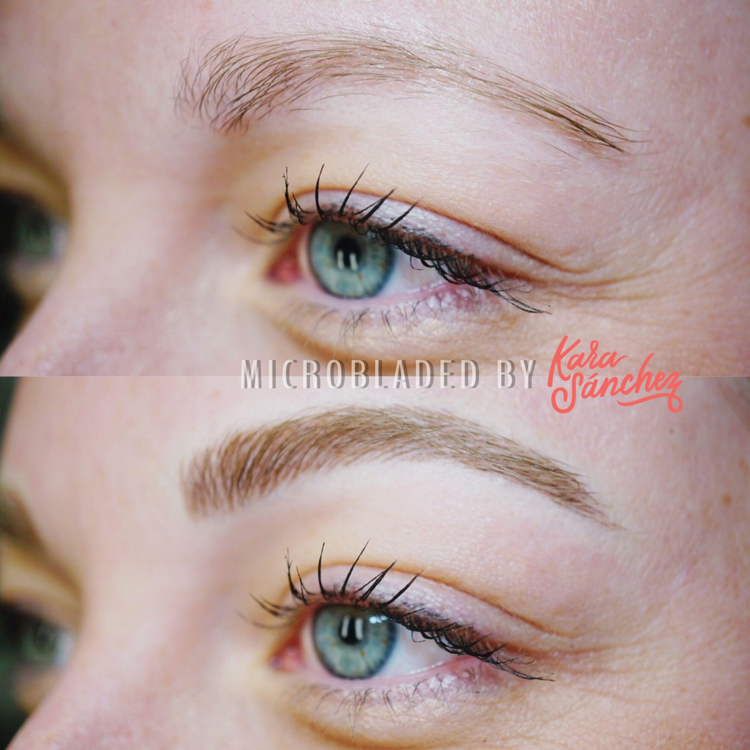 Before After Kara Sanchez Beauty Make Up Beauty Eyebrows