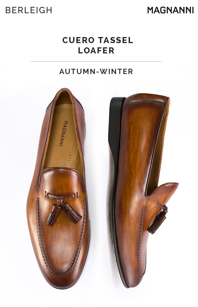 0e4c40ed2b3 Magnanni cuero tassel loafer  These marvellous Spanish loafers are carved  out of burnished leather and