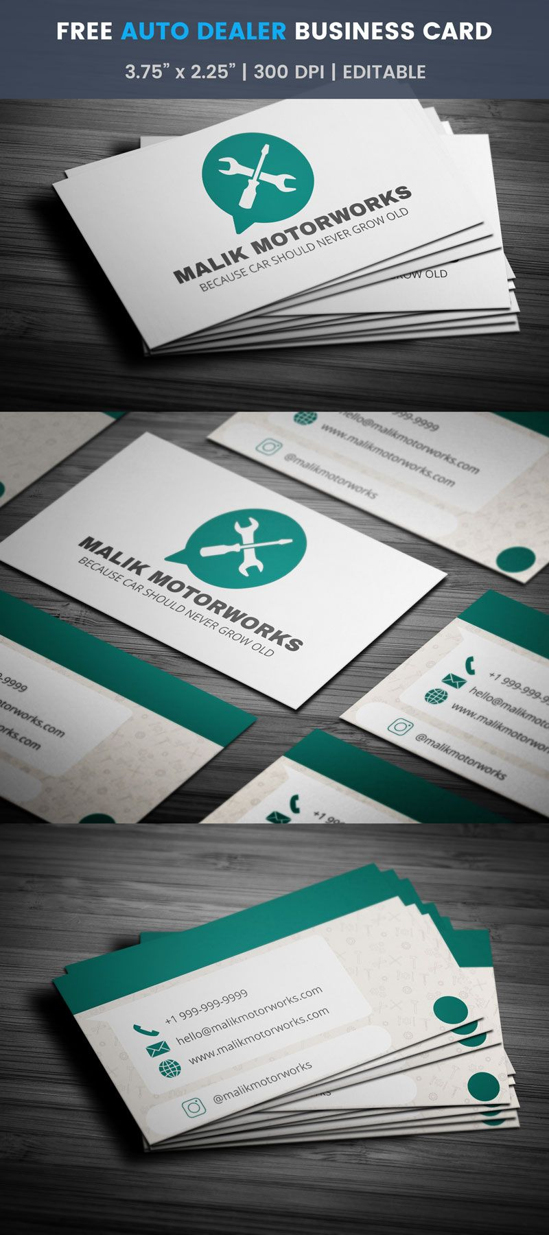 Whatsapp Themed Auto Dealer Business Card Full Preview Free