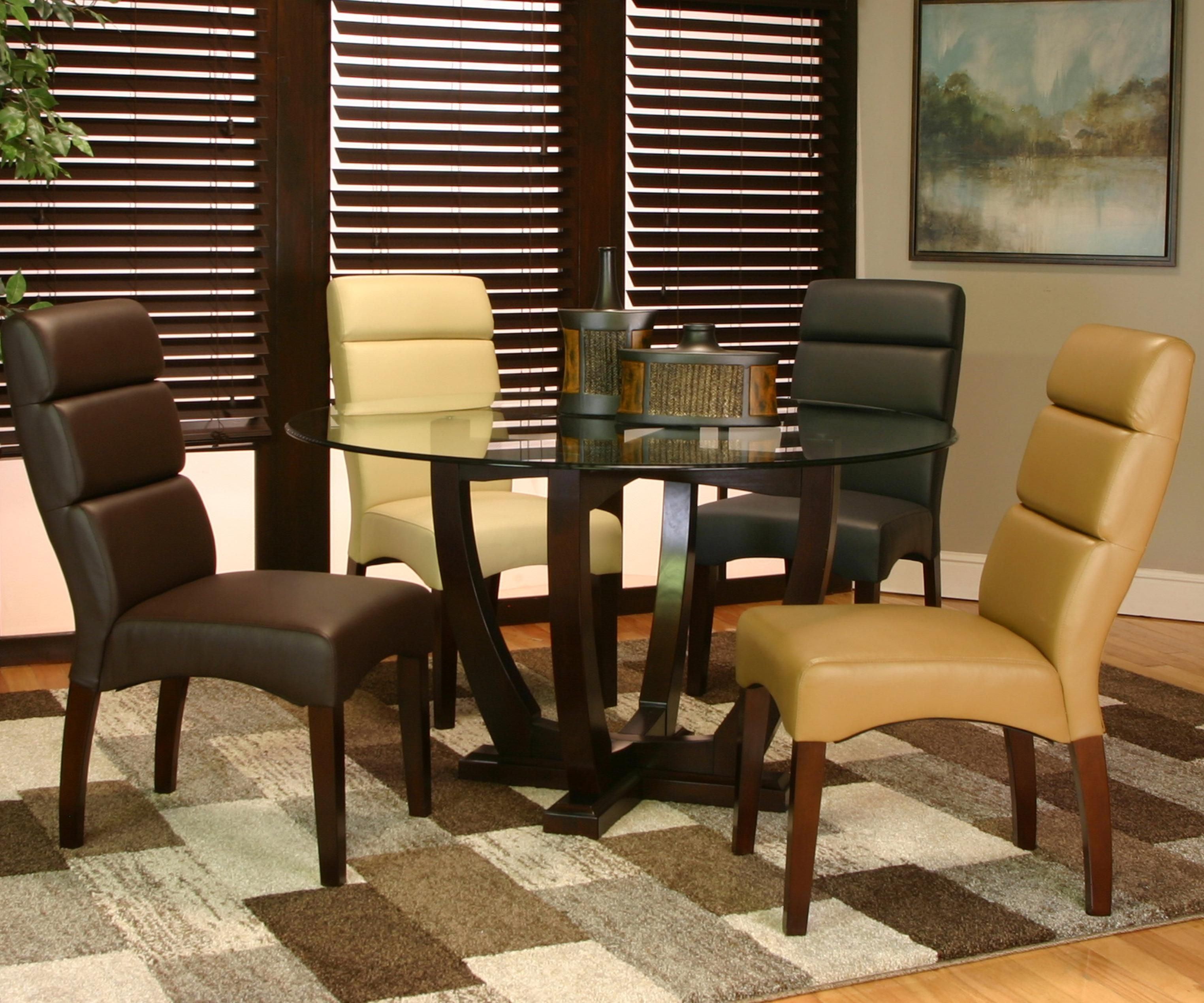adele 5 piece dining setcramco inc  furniture glass