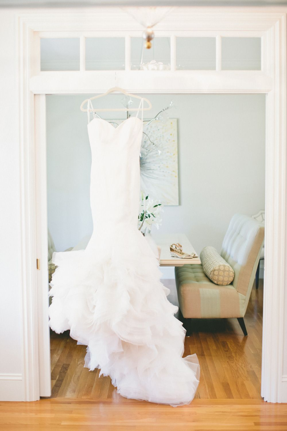 Gold sparkle wedding dress  Stunning gold sparkle and love wedding in Sonoma California