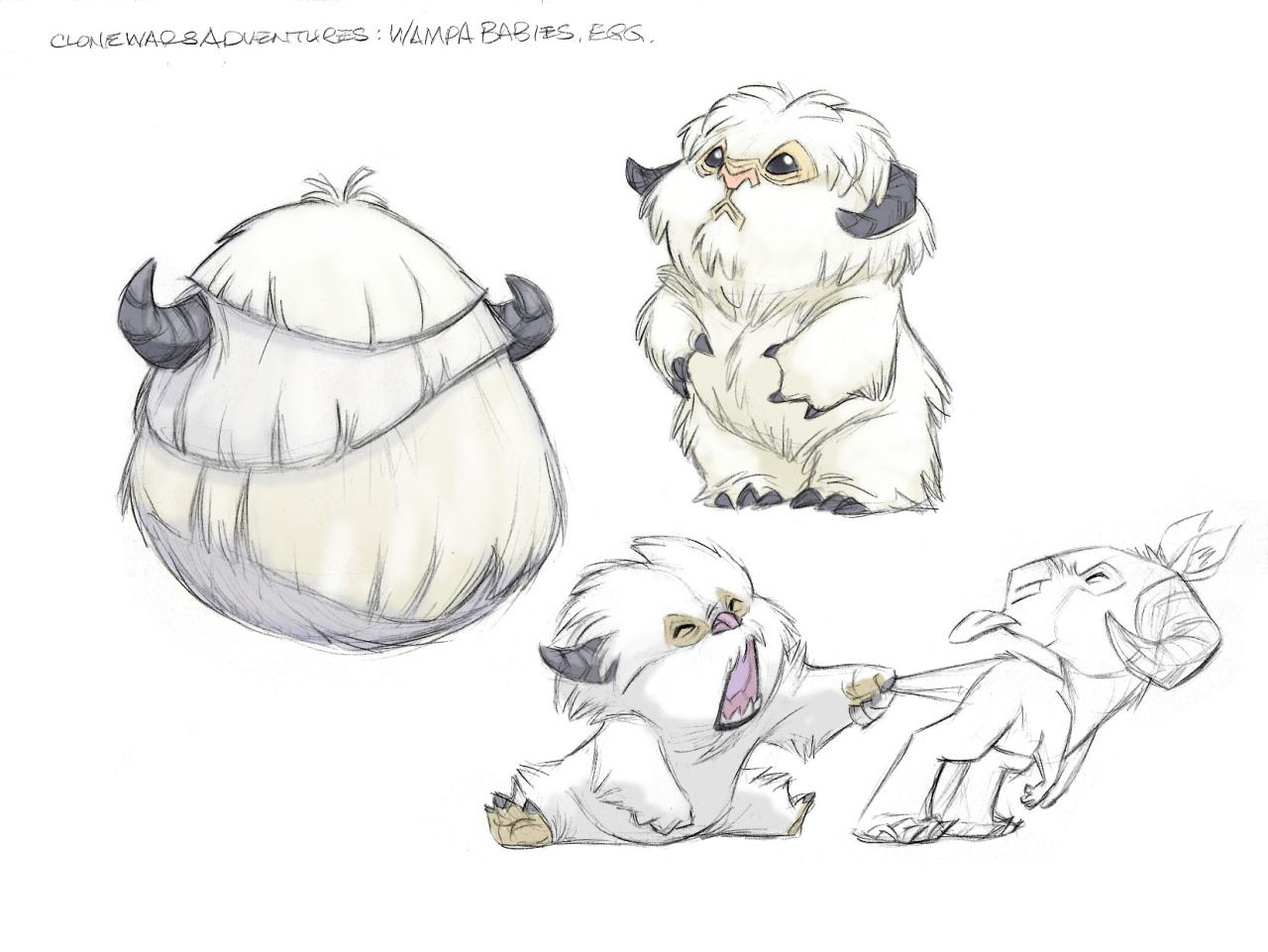 Clone Wars Pets Babies Mounts Creature Concept Art Character Design Animal Illustration