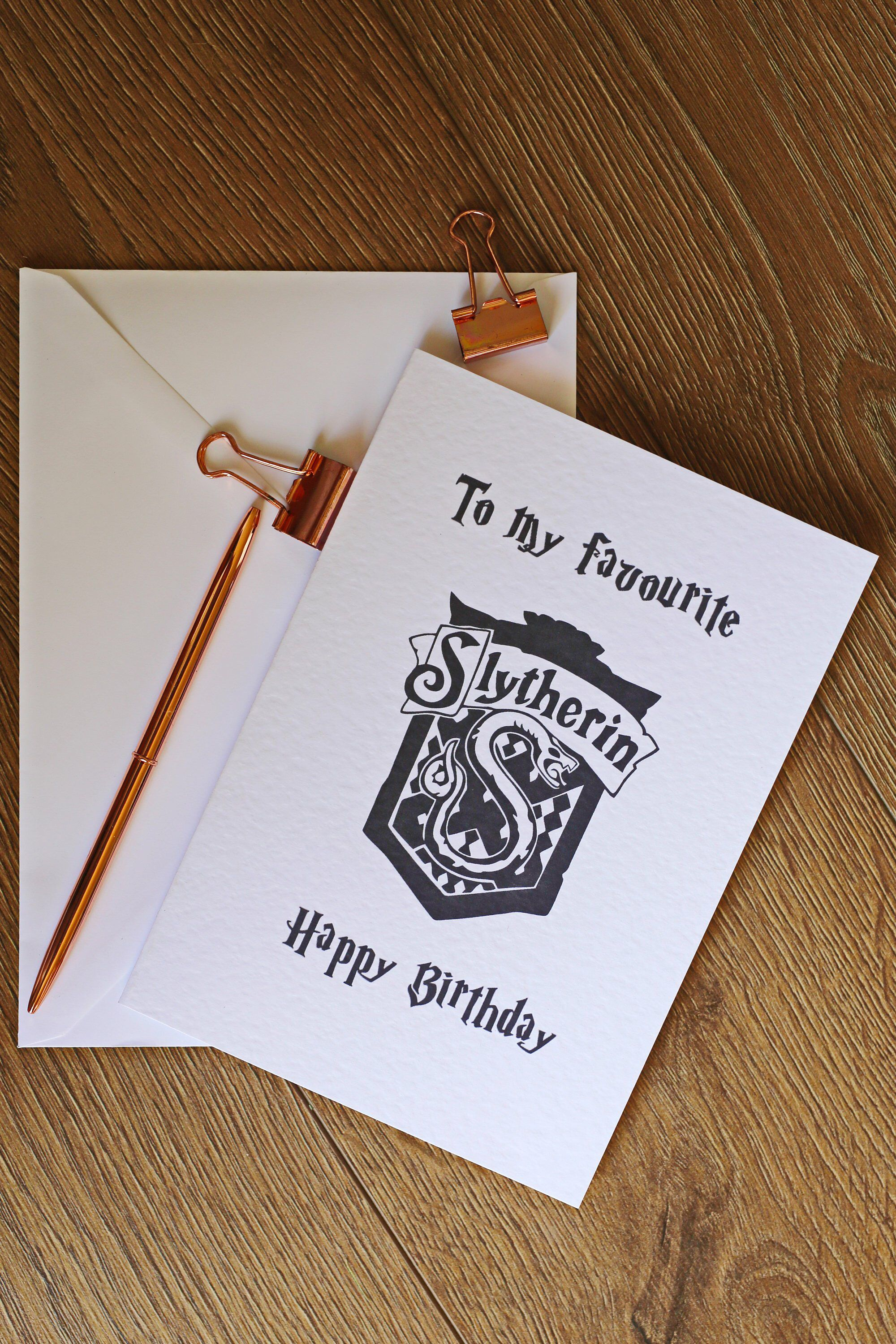 Harry Potter Personalised Slytherin Birthday Card By Freyaleedesigns On Etsy Https Www Harry Potter Gifts Diy Harry Potter Cards Harry Potter Birthday Cards