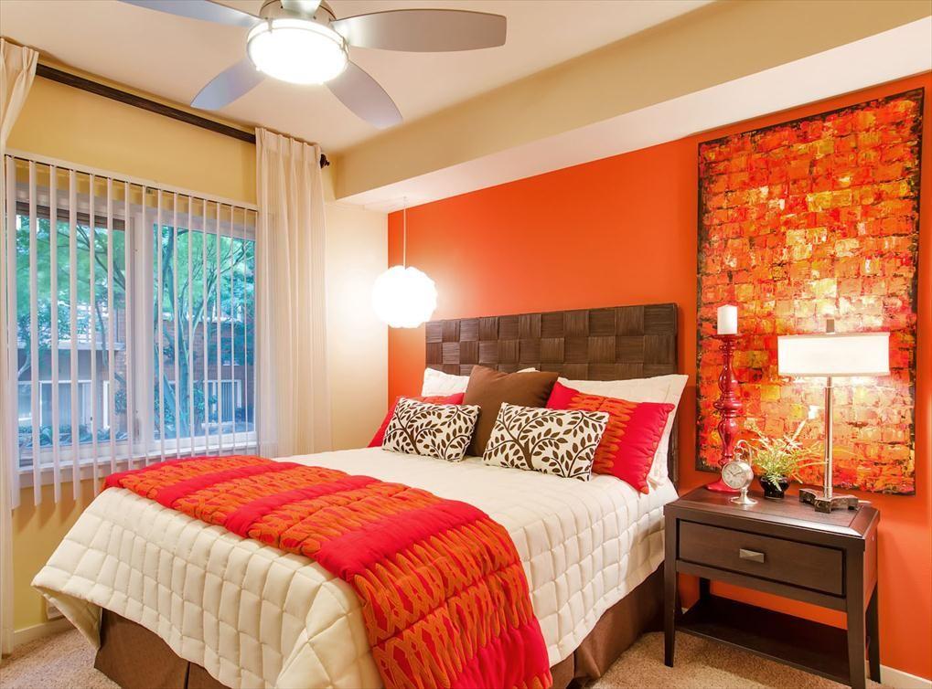 Bedroom model at AMLI at Bellevue Park, a luxury apartment