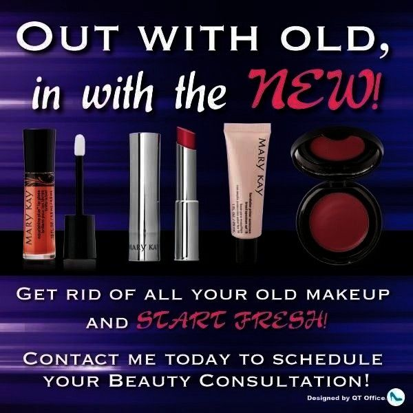 your old makeup and replace with Mary Kay products Contact me today  Terry Neal terrynealmarykaykay Toss out your old makeup and replace with Mary Kay products Contact me...