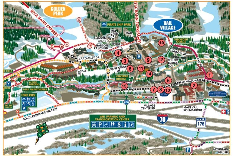Vail Village | Vail village, Village map, Colorado