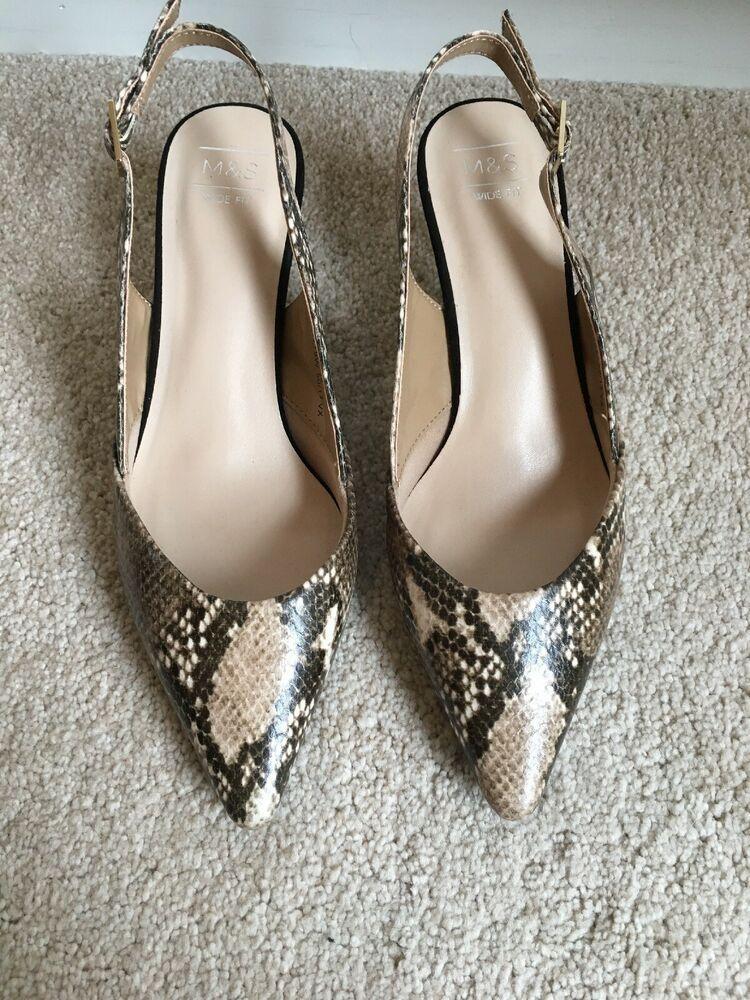 Ladies Size 4 Snakeskin Kitten Heel Slingbacks Kitten Heels From Ebay Uk Kittenheels Heels 2 60 0 Bids End D Kitten Heel Slingbacks Heels Kitten Heels