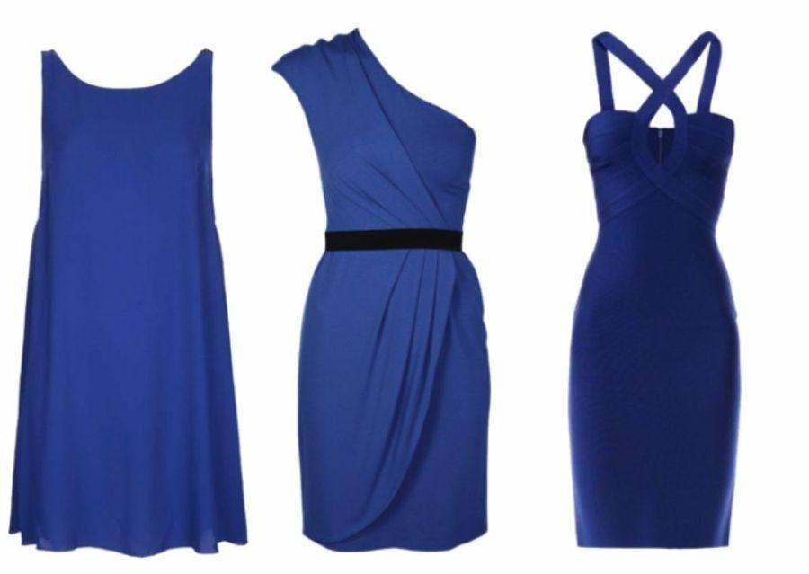 Con que combinar un vestido azul klein