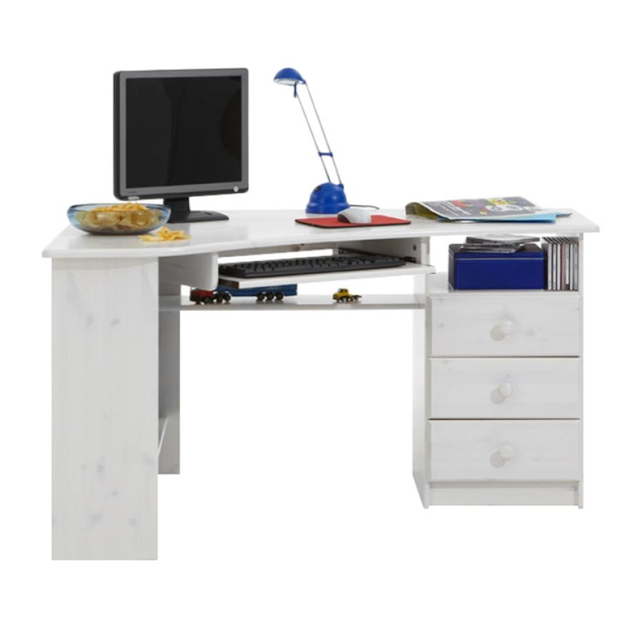 Bureau dangle Berra Pin massif Blanc miroir Pinterest