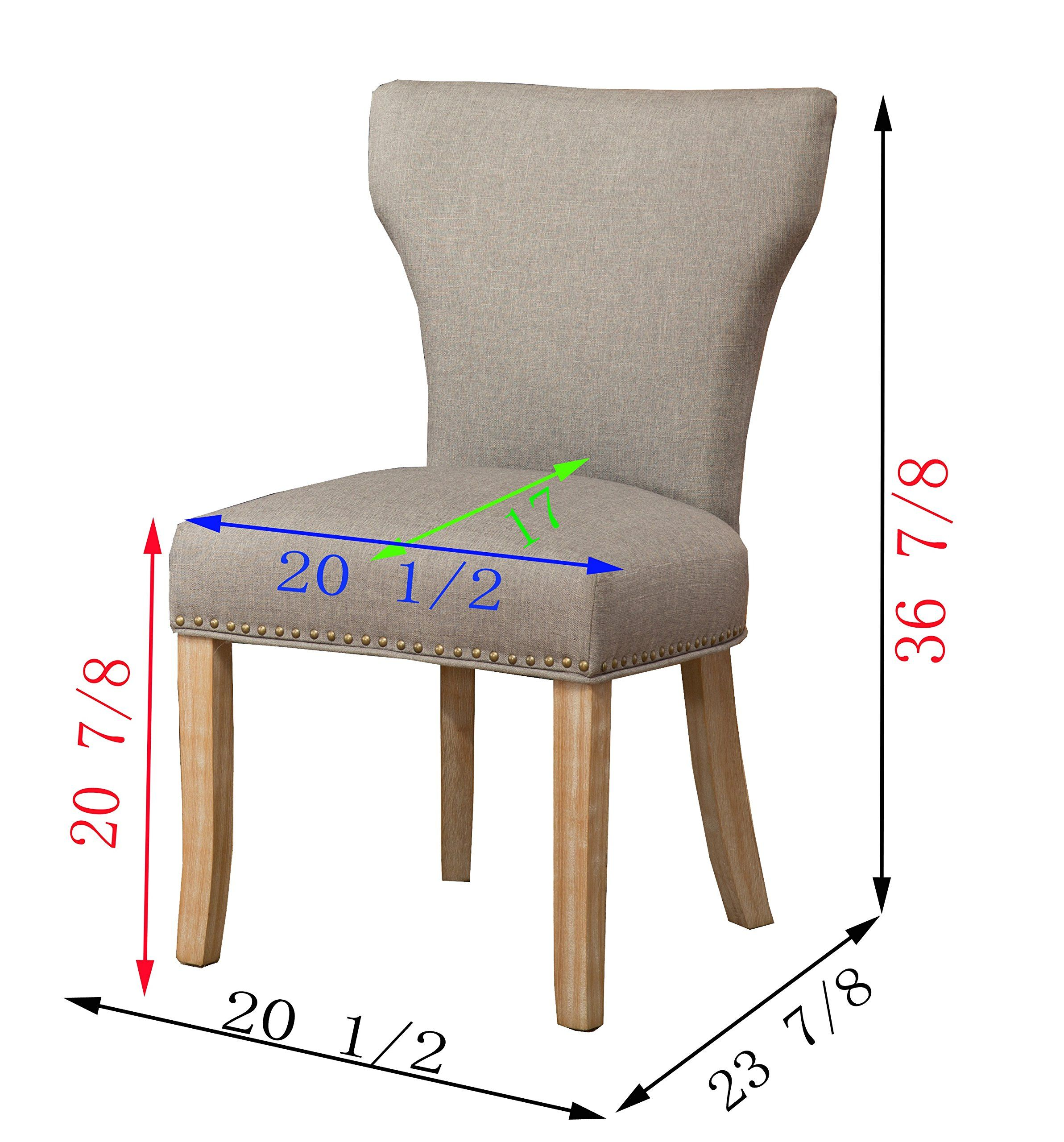 Roundhill Furniture C175GY Caen Nailhead Trim Grey Armless
