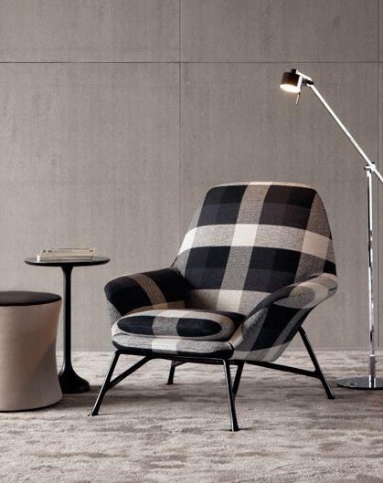 Poltrona Prince Minotti.Prince Armchair Designed By Italian Architect Designer