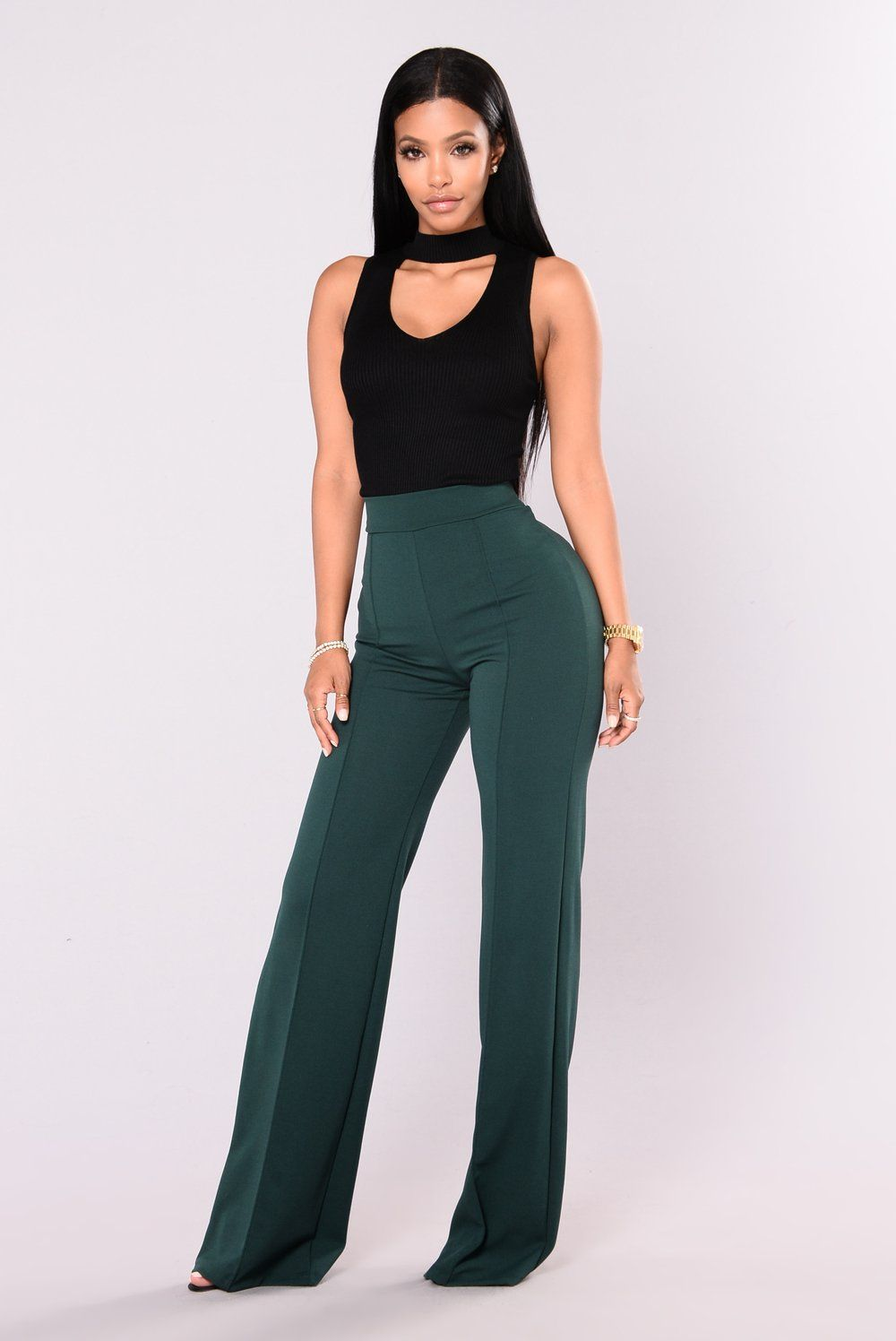 5ddff5fead2 Victoria High Waisted Dress Pants - Hunter Green in 2019