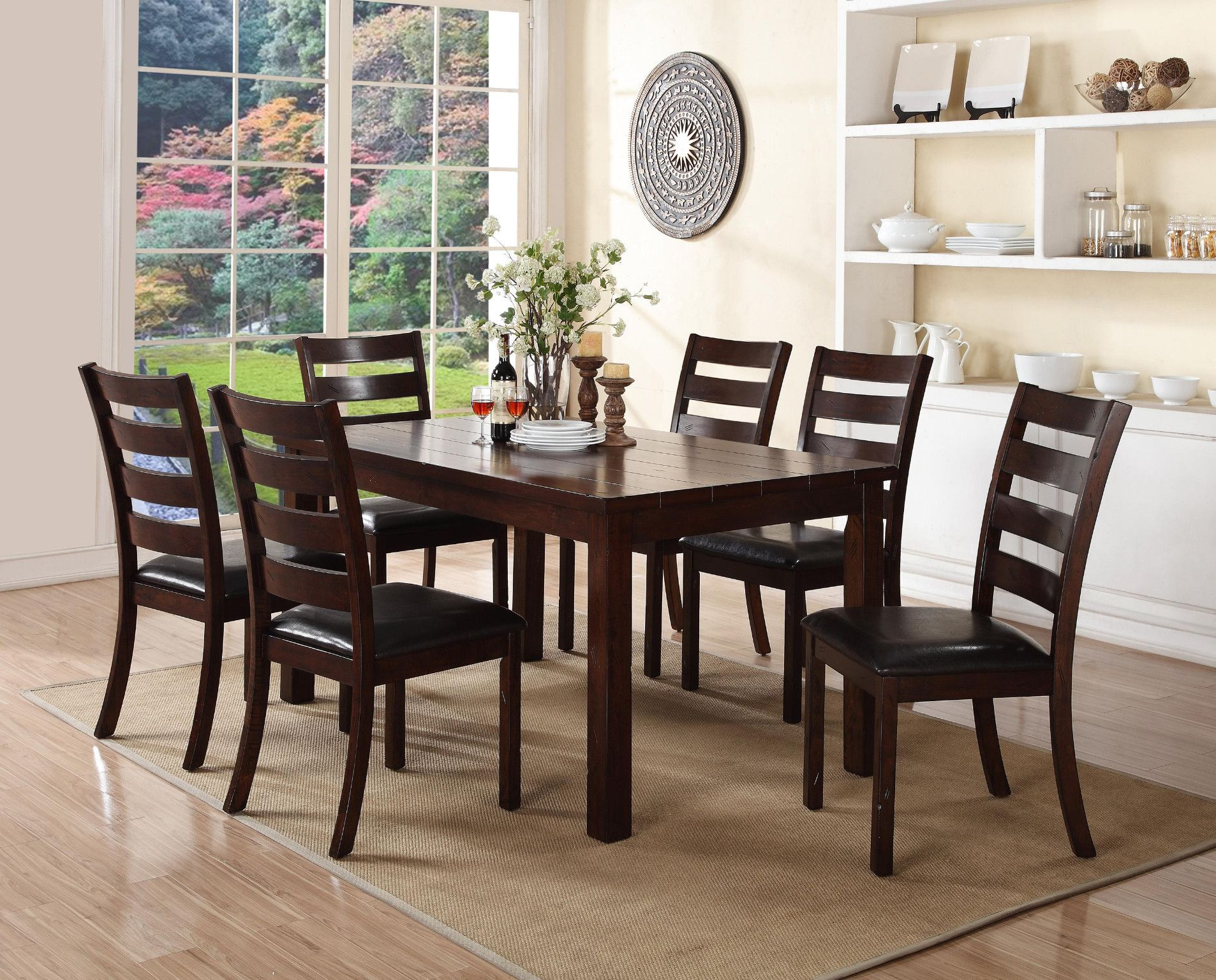 Quinn 5 Piece Dinette Table And 4 Chairs 699 00 Table 38 X 64 X 30 H Chair 20 X 19 X 39 H C Dinette Dinette Tables Furniture Clearance