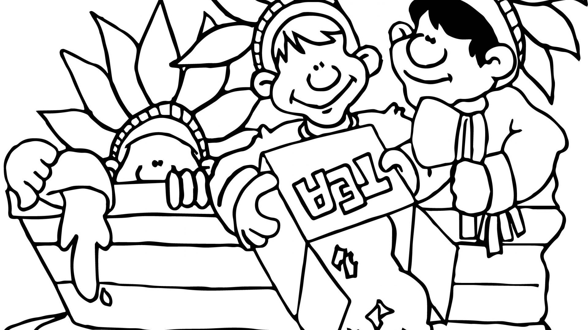 Boston Tea Party Coloring Page At Pages Rallytv Org And Boston