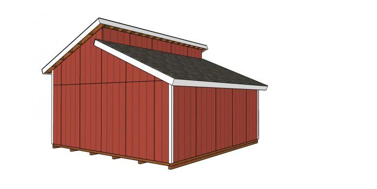 20x20 Clerestory Shed Free Shed Plans And Drawings Myoutdoorplans Free Woodworking Plans And Projects Diy Shed Wooden P In 2020 Shed Plans Free Shed Plans Shed