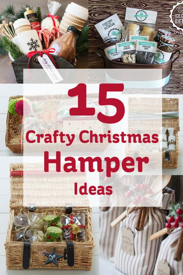 Hampers are great for people who want to put lots of time & love into their  gifts, here's 15 crafty christmas hamper ideas to get you going on your  gifting! - 15 Crafty Christmas Hamper Ideas #christmas #hamper #craft Gift