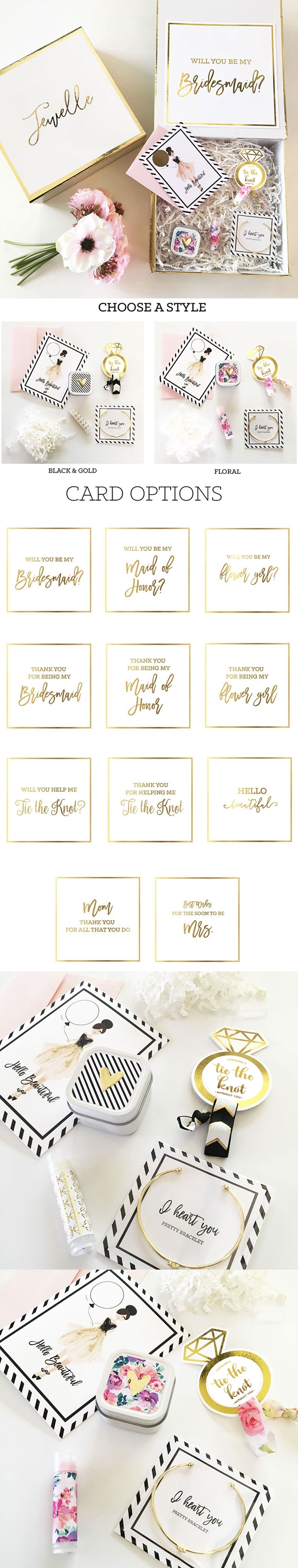 Party Proposal Best Bridal Party Proposal Or Thank You Gift Set In Personalized Giftbox .