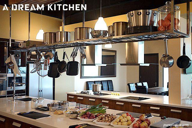Suspended Shelving Over Island Inspiration Kitchen