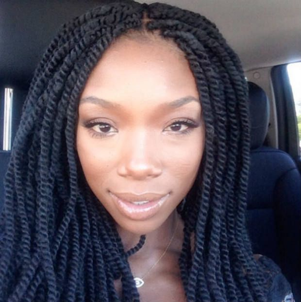 hair story: brandy norwood | Marley twists, Natural twists and ...