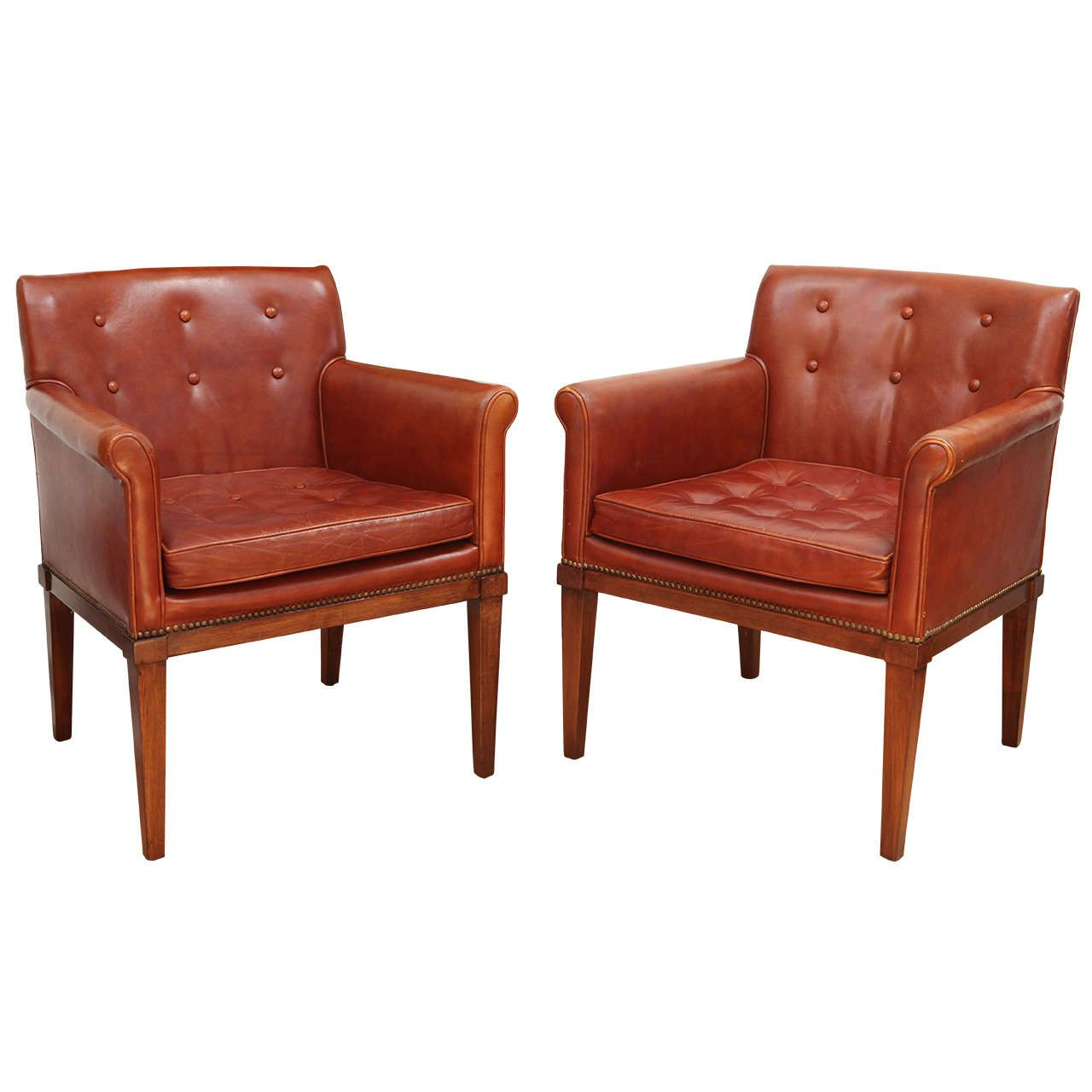 Pair Of Ralph Morse Leather Armchairs | From A Unique Collection Of Antique  And Modern Armchairs