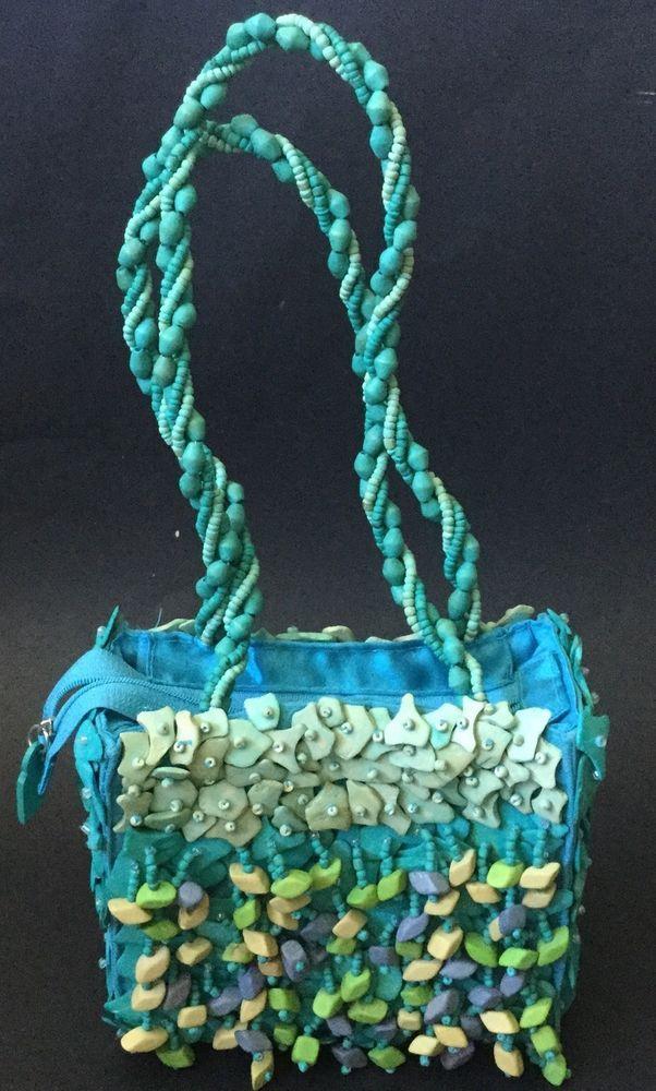 Pele Handbag Purse Pacific Isle Samoan New Zealand Hand Sewn Shell Bead Design In Clothing Shoes Accessories Women S Bags Ebay