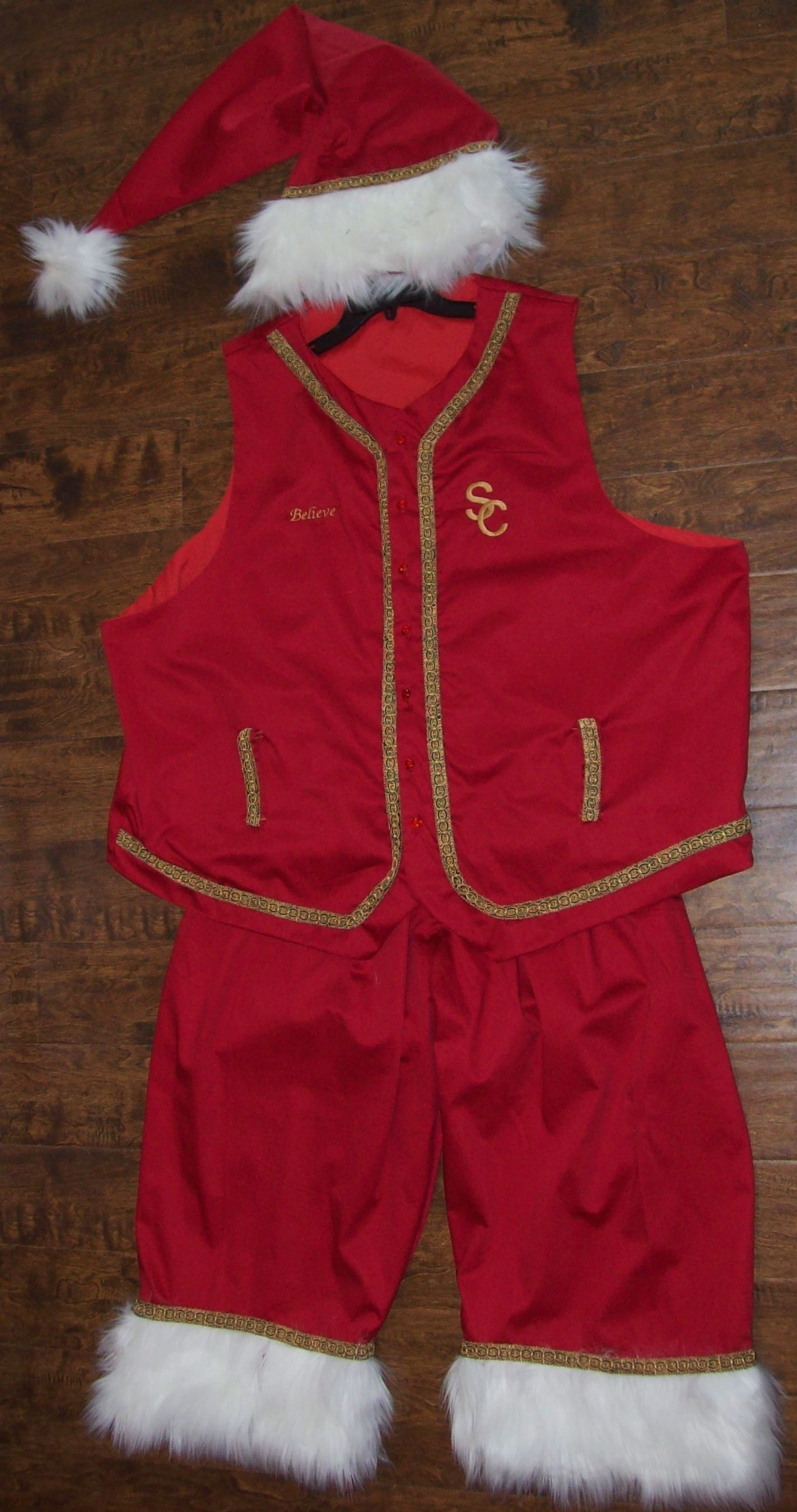 1cabbca6019 Three piece Santa suit   outift one of a kind custom made ready to ship  4X 5X