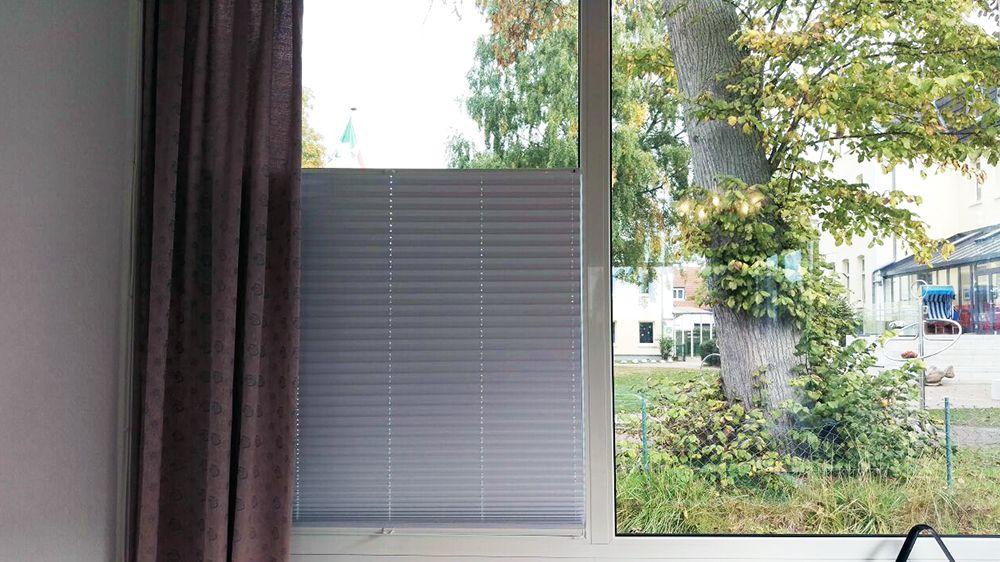 Epic Cosiflor Plissee im Wohnzimmer ein Kundenbild Cosiflor pleated blind in the living room