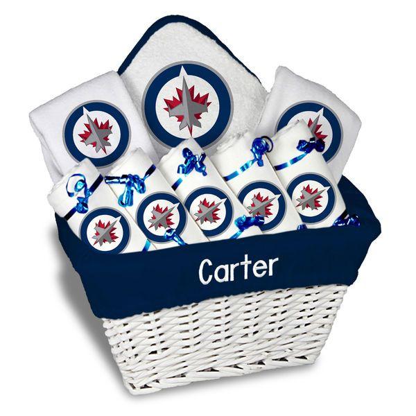 Winnipeg jets newborn infant personalized large gift basket winnipeg jets newborn infant personalized large gift basket white 18199 negle Images