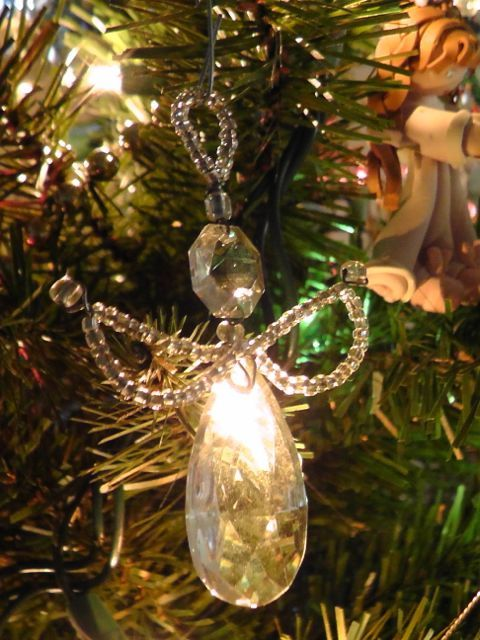 crystal angel ornament made from chandelier | Mardi Gras ...