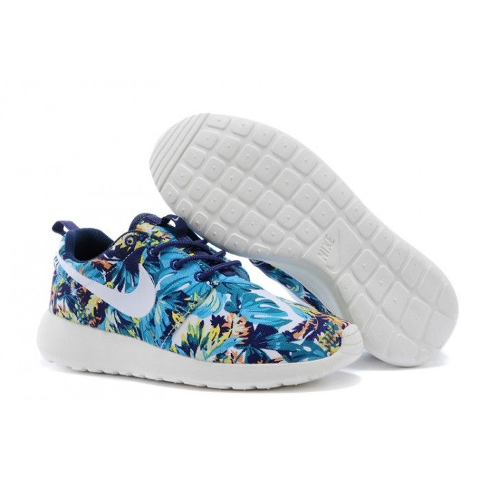 buy online 87d66 8fd78 2015 Nike Wmns Roshe Run Mens Couples Tropical Jungle Blue