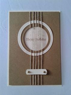 Geburtstagskarte Gitarre Su Geburtstagskarte Cards Diy Cards