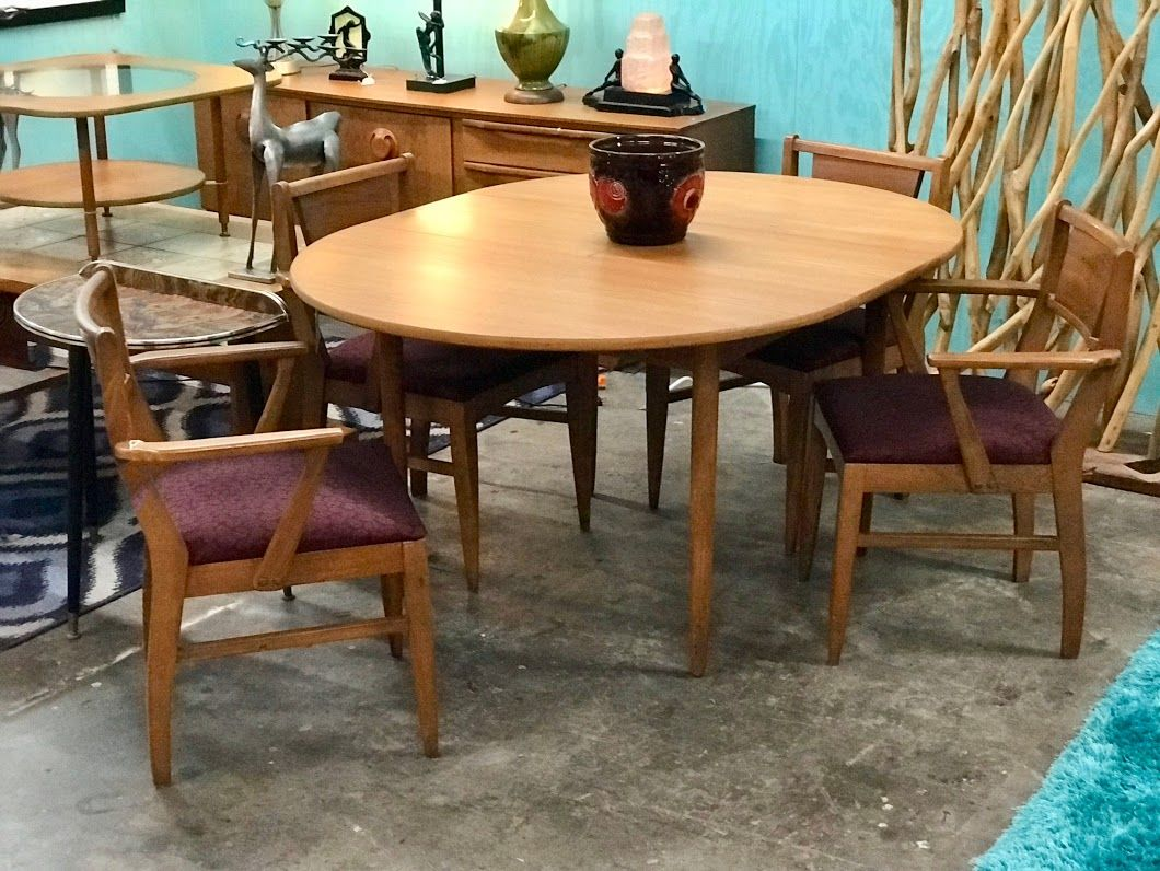 Teak Popup Leaf Dining Table Booth From England
