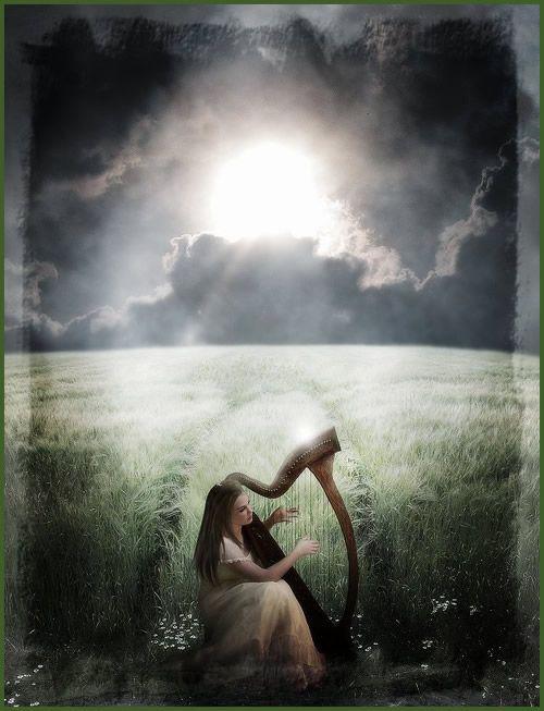 Fantasy Image 1562 Picturescafe Harpe Illustration Gratuite Peinture Artistique
