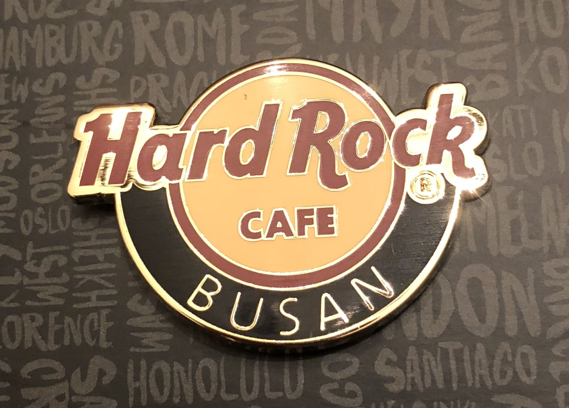 Hard Rock Cafe Busan Classic Logo Pin Hard Rock Cafe Pin Logo Hard Rock